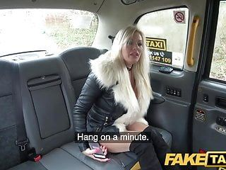 Fake taxi pleasing blond milf pumped throughout ripped tights