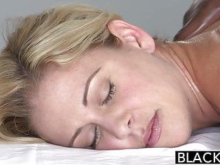 Blacked blond milf cherie deville takes large ebony pecker