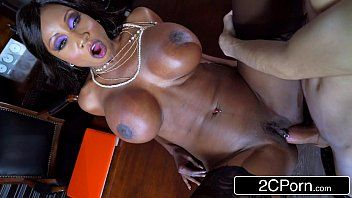 Slutty dark milf boss diamond jackson copulates her slim loser employee