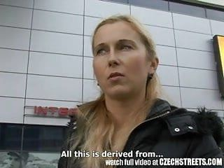 Czech streets - blond milf picked up on street