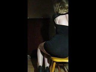 Sexy blond undress tease