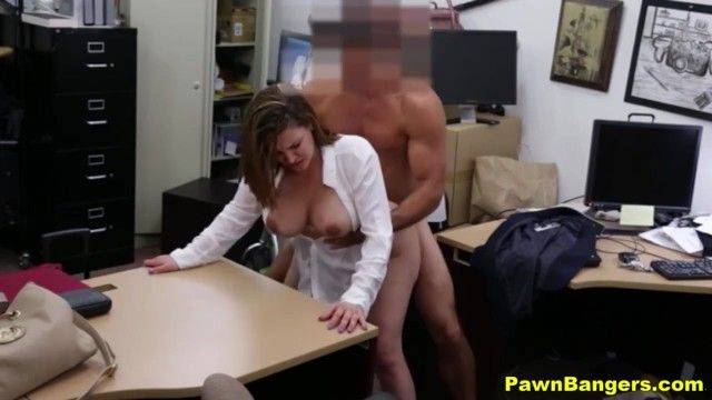 Pawn shop porn-big pantoons mamma widens her legs for money