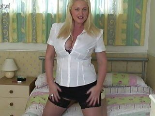 Sexy british breasty aunty receives lustful as hell