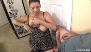 Breasty milf tit-fucking and jerking