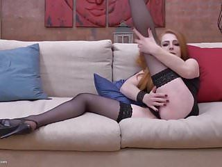 Wicked redhead milf with hungry bushy fur pie