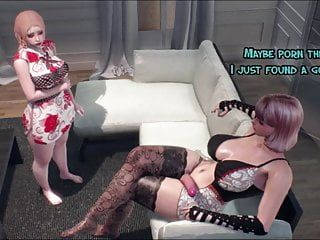 Step daughter enticed mamma - cg tranny mom pumping gal