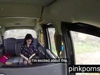Anal arse call with a tiny excited minx in my fake taxi