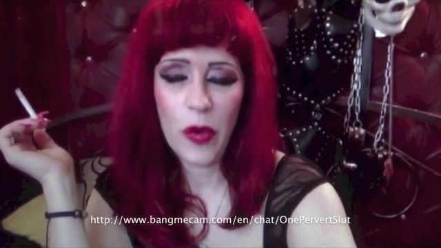 Hot sadomasochism redhead granny smokin on livecam