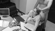 Seduction of office secretary caught on hidden security web camera
