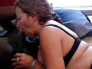 Voluptuous milf in nylons acquires a ebon ramrod workout