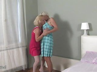 2 sexy blond old and juvenile lesbos getting juicy