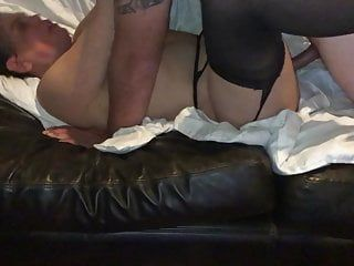 Ally dumps a massive load in my wifes wet crack
