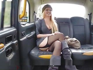 Fake taxi - breasty golden-haired milf amber jayne sucks and copulates large 10-pounder