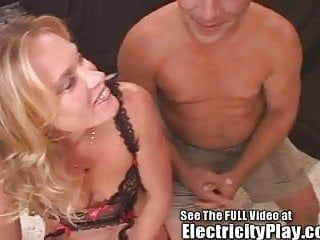 Thin milf screwed hard with electricity