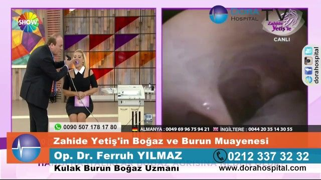 Turkish female hosts mouth