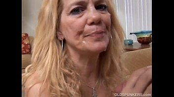 Marvelous aged golden-haired likes to fuck