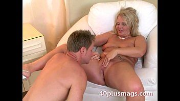 Chubby blond housewife with charly